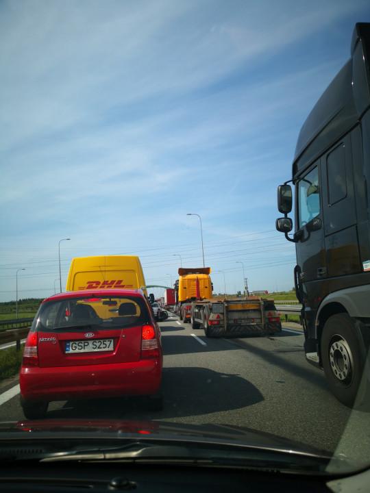Korek na obwodnicy  w stronę Gdyni