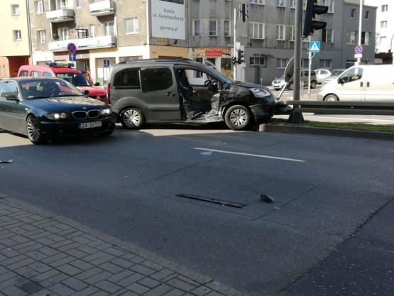 Wypadek na Śląskiej w Gdyni