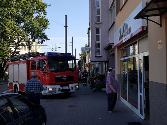 Pożar lokalu z tuszami do drukarek na Kartuskiej w Gdyni