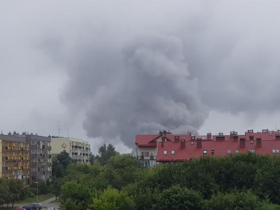 Dym nad Orunią, widok z ul. Cieszyńskiego