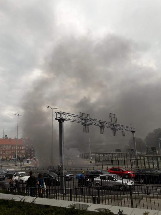 Pożar w tunelu pod Forum Gdańsk