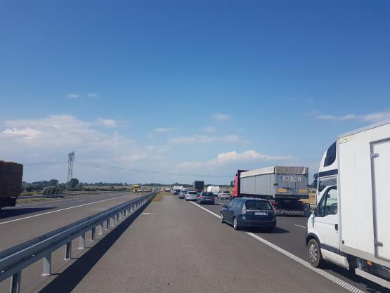 Zator na trasie S7 w stronę Gdańska