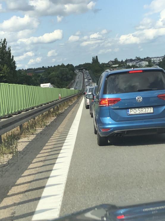 Obwodnica zakorkowana od wyjazdu z A1 w kierunku Gdańska