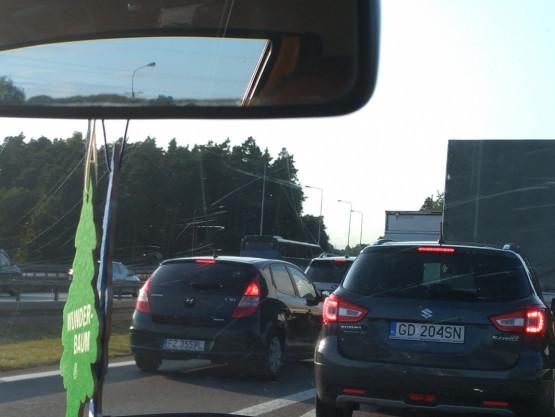 Korek na obwodnicy od Matarni w stronę Gdyni