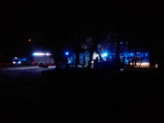 Nocny pożar w Gdańsku przy ul. Angielska Grobla