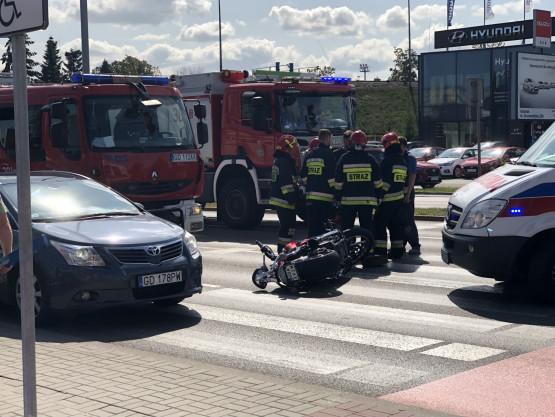 Wypadek na Grunwaldzkiej w stronę Gdyni