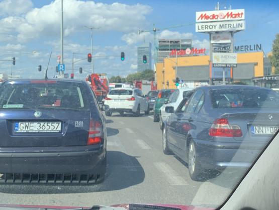 Wypadek na Grunwaldzkiej, jeden pas przejezdny