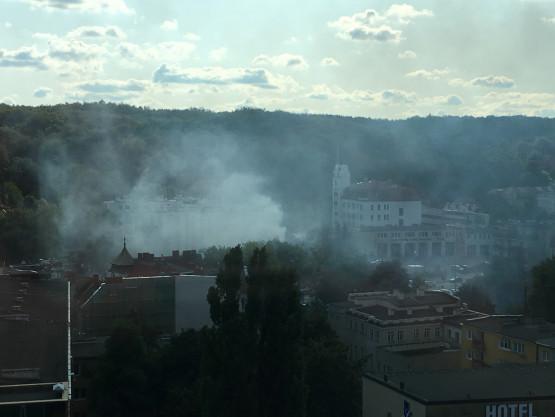 Pożar budynku na Sosnowej we Wrzeszczu