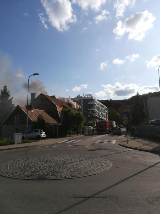 Pożar poddasza przy ul. Partyzantów