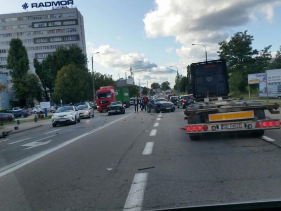 Wypadek na Hutniczej w Gdyni