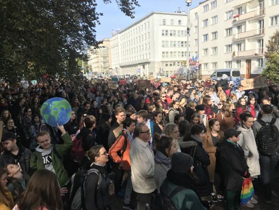 Młodzieżowy Strajk Klimatyczny w centrum Gdyni