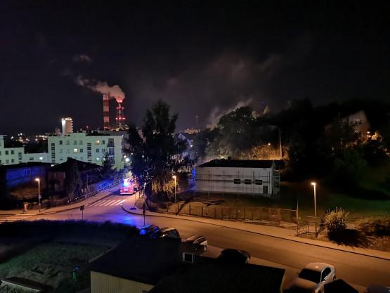 Pożar domku na ul. Rtęciowej w Gdyni