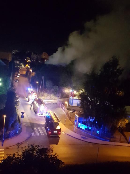 Skutki pożaru na Pogórzu