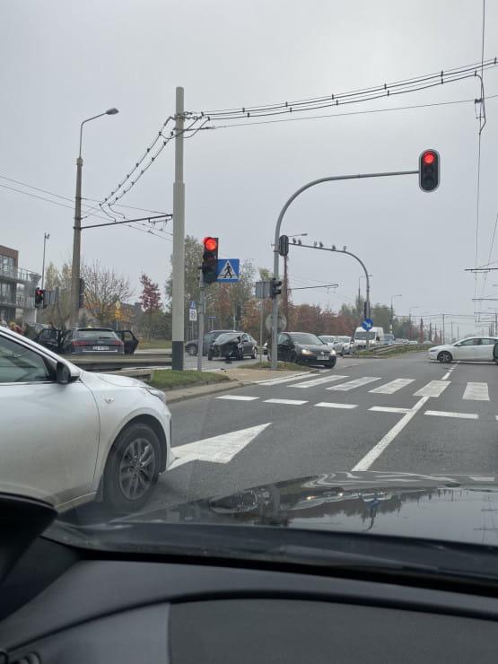 Stłuczka na ul. Wielkopolskiej