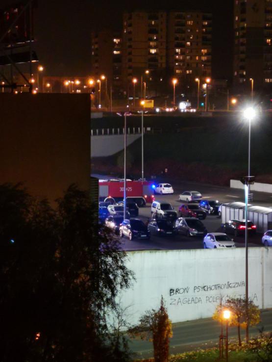Interwencja strażaków w Tesco na Chełmie