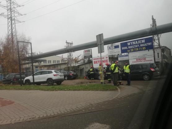 Stłuczka na ul. Narwickiej w Letnicy