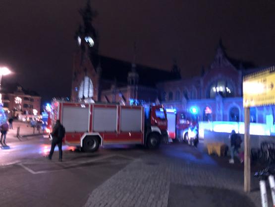 Interwencja strażaków na Dworcu Głównym w Gdańsku