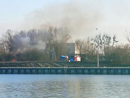 Pożar altany przy ul. Litewskiej