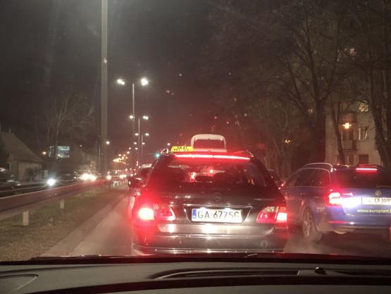 Ciasno na Grunwaldzkiej w kierunku Gdyni