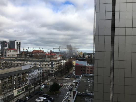 Dym w okolicach Wałowej i Rybaków Górnych