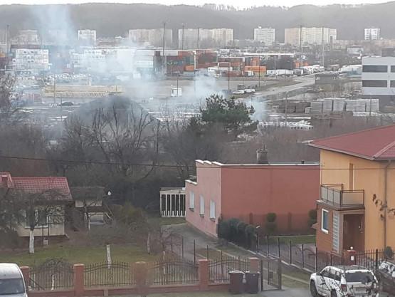 Pożar altanki na ul. Żeliwnej