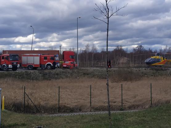 Wypadek na ul. Kontenerowej w Gdańsku