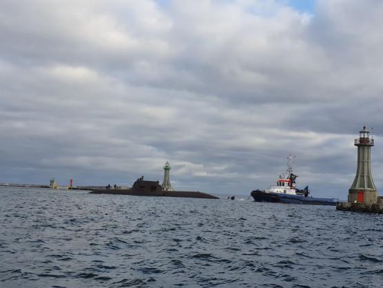 Niemiecka łódź podwodna w porcie w Gdyni