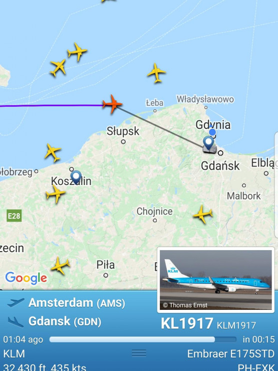 Samolot z Amsterdamu
