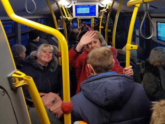 Zatłoczone autobusy w Gdańsku