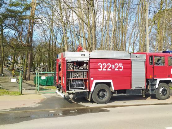 Spłonął śmietnik przy ul. Turystycznej w Sobieszewie