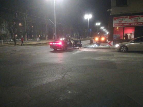 Wypadek na krzyżówce Hallera i Kościuszki we Wrzeszczu