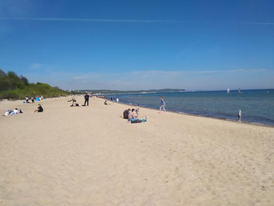 Plaża na wysokości siedziby Ergo Hestii