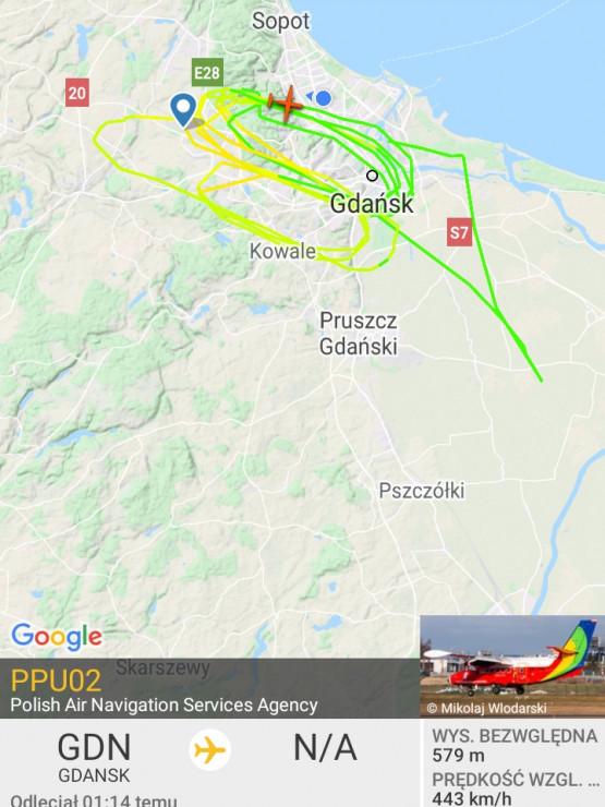 Znowu zwariowany pilot nad Gdańskiem w swej maszynie, co się dzieje?