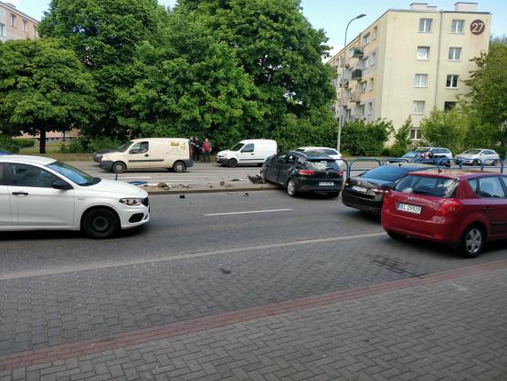 Wypadek na ul. Kołobrzeskiej na Przymorzu