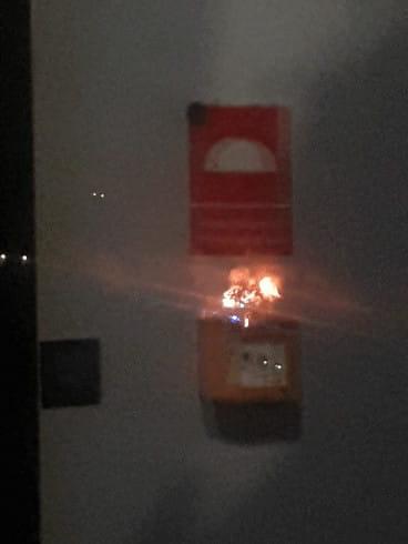 Nocny pożar działki w Gdańsku na Zaspie