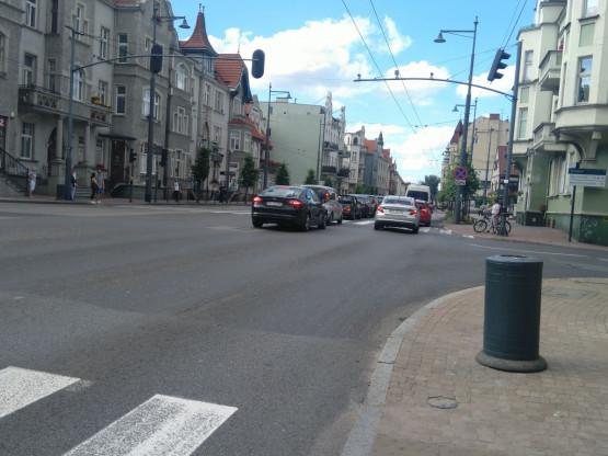 Korek na al. Niepodległości w Sopocie w kierunku Gdyni
