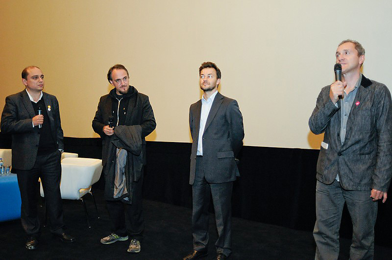 Od lewej Basil Kerski, Cyril Tuschi, Michał Chaciński oraz Artur Liebhart