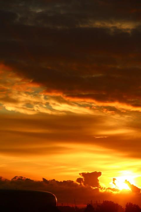 Wschód słońca nad PGE Areną