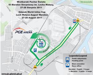 Plan trasy III Maratonu Sierpniowego