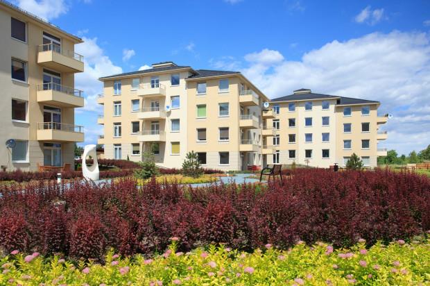 Kolejne budynki osiedla oddawane są razem z zielonymi obsadzeniami i małą architekturą.