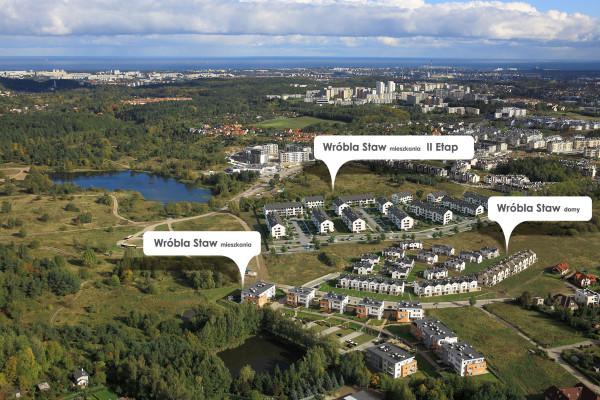 Kolejne etapy inwestycji Wróbla Staw tworzą duże osiedle mieszkaniowe.