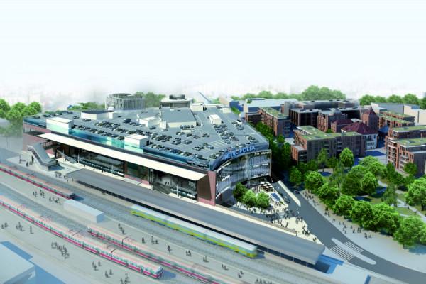 Do nowego centrum wejść będzie można bezpośrednio z peronu SKM.