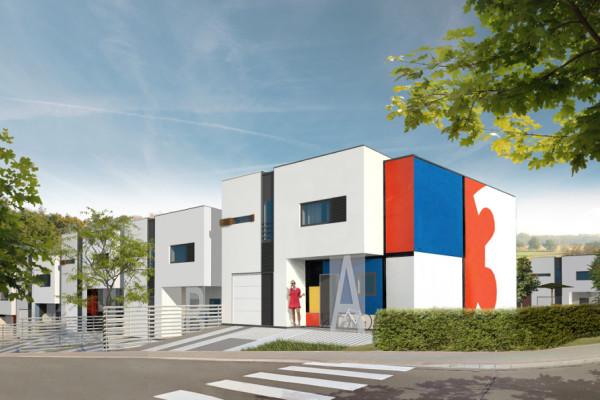 Domy o nowoczesne architekturze wyróżniały się będą zindywidualizowanymi elewacjami.