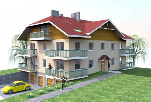 W każdym budynku znajdują się cztery mieszkania. Do tych na pierwszym piętrze dokupić można poddasze do zagospodarowania we własnym zakresie.