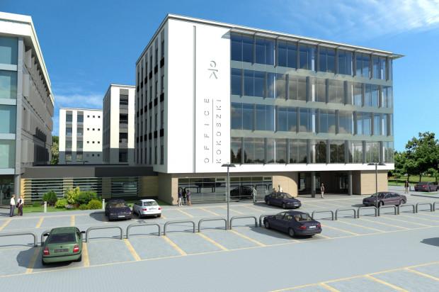 Parkowanie wokół biurowców możliwe będzie na naziemnych miejscach parkingowych.