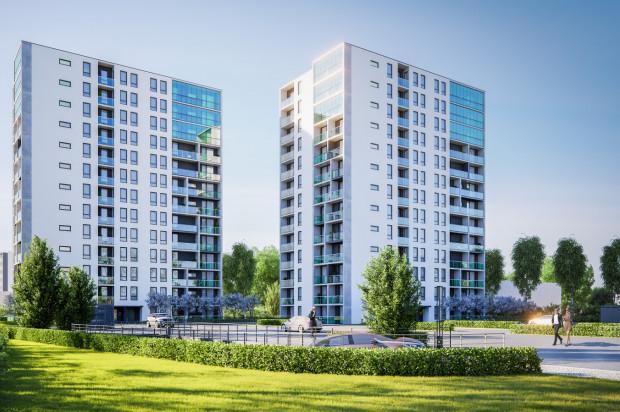 Duże przeszklenia i jasne elewacje mają spowodować, że budynki architektonicznie wpiszą się w okolicę,