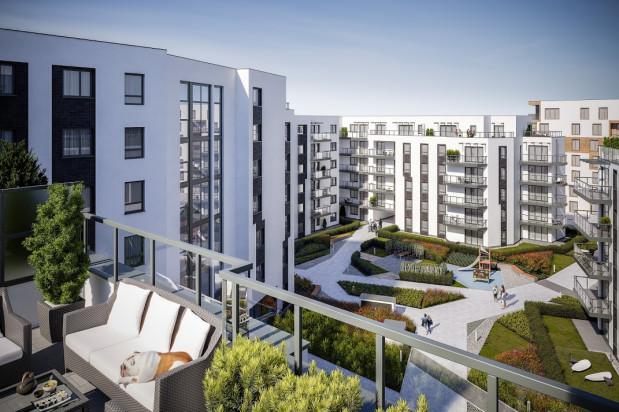 Pomiędzy budynkami osiedla powstaną zielone, ogólnodostępne przestrzenie wspólne.