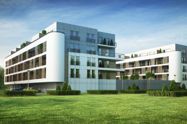 Pełna elegancji architektura budynków oznacza jednocześnie dobre doświetlenie mieszkań.