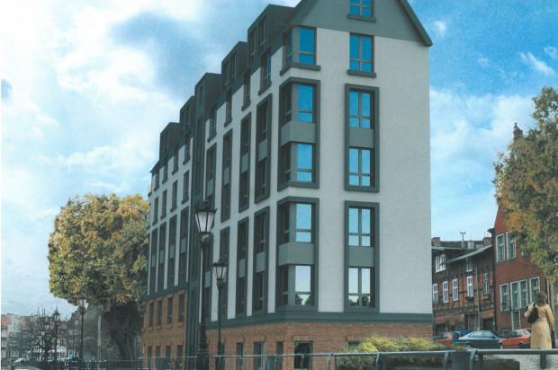 Najwyższa, siódma, kondygnacja budynku ukryta będzie pod skośnym dachem.