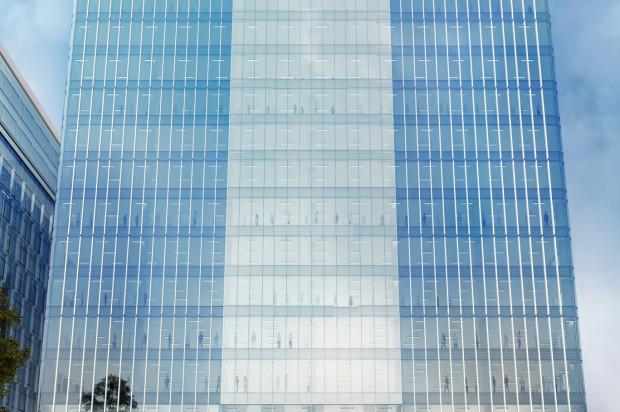 Olivia Seven. Koncepcyjna, docelowo zmieniona wizualizacja budynku.